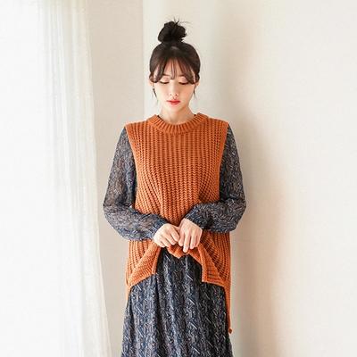 1区韩国本土服装代购(韩国圆通直发)09women-韩版时尚针织马甲(2018-04-19上架)