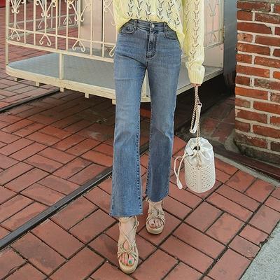 1区韩国本土服装代购(韩国圆通直发)09women-裤脚宽松韩版牛仔裤(2018-04-24上架)