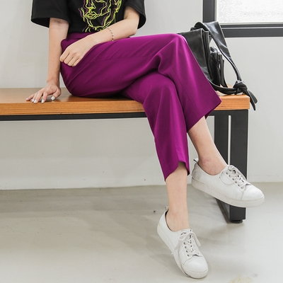 1区韩国本土服装代购(韩国圆通直发)09women-韩版后皮筋宽松长裤(2018-04-24上架)