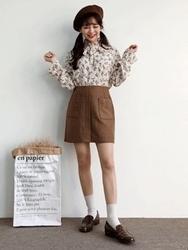 2018新款韩国服装100jang品牌时尚魅力花纹衬衫(2018.1月)