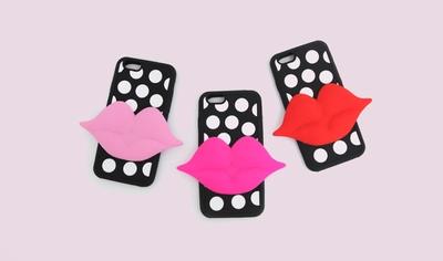 11am-韩版流行可爱嘴唇个性手机套