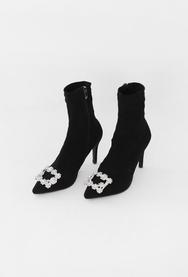 1区2017冬季新款韩国服装11am品牌亮片新款女性流行靴子(2017.11月)