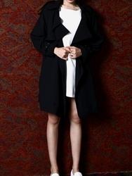 1区韩国代购正品验证42nd5-SRCT00756083-魅力深色直筒新款百搭时尚大衣