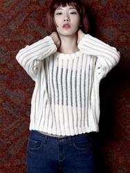 1区韩国代购正品验证42nd5-SRKN00756087-圆领舒适图案新款百搭时尚针织衫