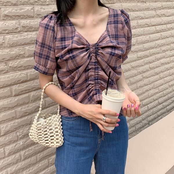 1区100%正宗韩国官网代购(韩国直发包国际运费)66girls-衬衫(2019-07-22上架)