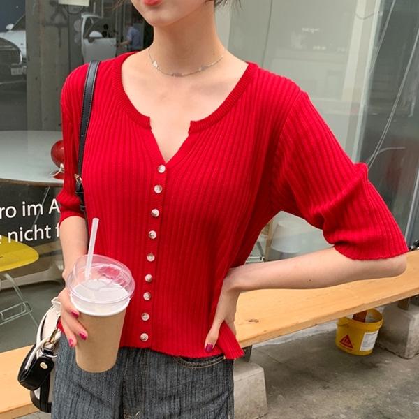 1区100%正宗韩国官网代购(韩国直发包国际运费)66girls-开襟衫(2020-07-04上架)