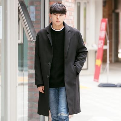 aboki-男士简约帅气纯色大衣