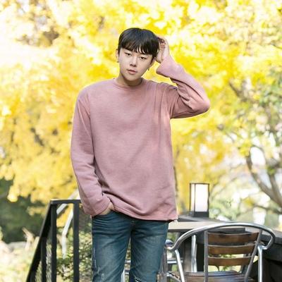 aboki-男士纯色魅力休闲T恤