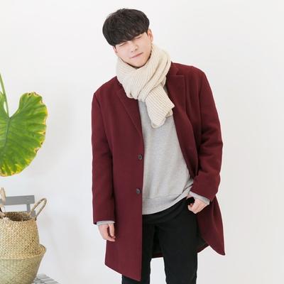 aboki-韩版纯色休闲时尚大衣