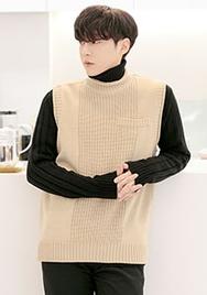 1区2017冬季新款韩国服装aboki品牌男士个性针织舒适马甲(2017.12月)