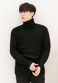 1区2017冬季新款韩国服装aboki品牌男士帅气纯色高档针织衫(2017.12月)