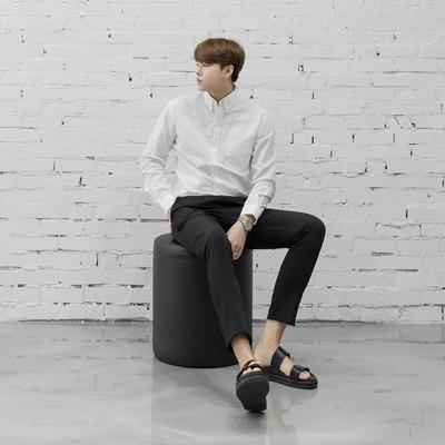 1区韩国本土服装代购(韩国圆通直发)aboki-简约纯色长袖衬衫(2018-07-07上架)