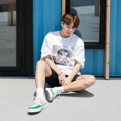1区韩国本土服装代购(韩国圆通直发)aboki-休闲韩版人物T恤(2018-07-10上架)