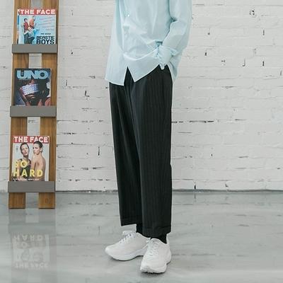1区韩国本土服装代购(韩国圆通直发)韩版舒适竖纹长裤(2018-07-13上架)