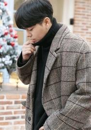 2018新款韩国服装aboki品牌男士简约秀气魅力大衣(2018.1月)
