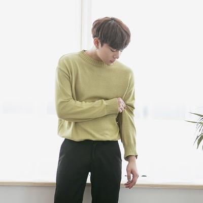 1区韩国本土服装代购(韩国圆通直发)aboki-休闲舒适纯色针织衫(2018-04-14上架)