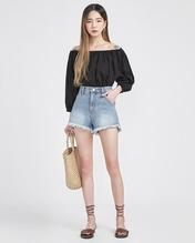 A-IN-韩版性感纯色搭配衬衫