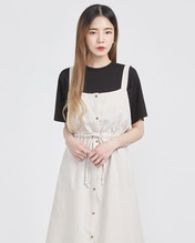 A-IN-纯色女性魅力个性T恤