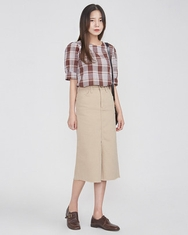 A-韩国IN-韩国格纹设计个性流行韩国代购正品衬衫女装2017年08月09日08月款