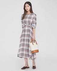 A-韩国IN-韩国格纹优雅魅力个性韩国代购正品连衣裙女装2017年08月09日08月款