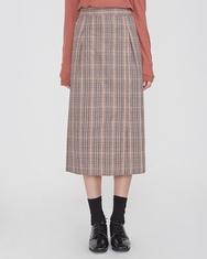 A-韩国IN-韩国格纹设计搭配魅力韩国代购长裙女装2017年08月10日08月款