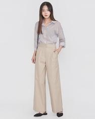 A-韩国IN-韩国条纹设计个性流行韩国代购正品衬衫女装2017年08月10日08月款