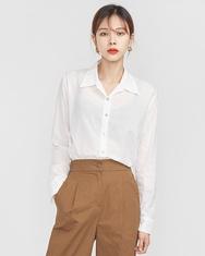 A-韩国IN-韩国纯色魅力个性流行韩国代购正品衬衫女装2017年08月14日08月款