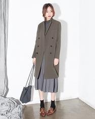 2018新款韩国服装A-IN品牌长款时尚冬季流行大衣(2018.1月)