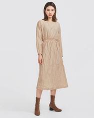 2018新款韩国服装A-IN品牌纯色时尚圆领流行连衣裙(2018.1月)