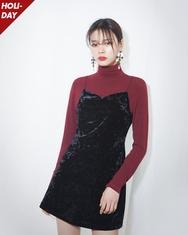 2018新款韩国服装A-IN品牌韩版高领时尚纯色T恤(2018.1月)