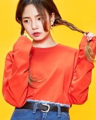 2018新款韩国服装A-IN品牌时尚纯色简约T恤(2018.1月)