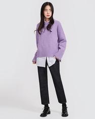 2018新款韩国服装A-IN品牌冬季纯色新款针织衫(2018.1月)