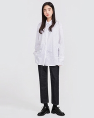2018新款韩国服装A-IN品牌条纹时尚流行衬衫(2018.1月)