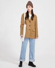2018新款韩国服装A-IN品牌韩版纯色个性流行夹克(2018.1月)