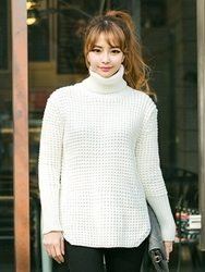 1区韩国代购正品验证arooki-ARKN00830456-新款魅力经典底单高领针织衫