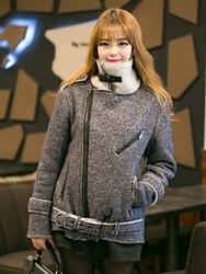 1区韩国代购正品验证arooki-ARJK00831029-魅力高档时尚斜拉链夹克