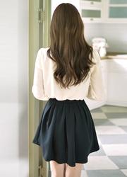 1区韩国代购正品验证attrangs-AGSS00761792-甜美?#21487;?#21895;叭短裙