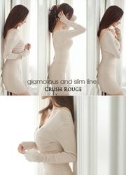 1区韩国代购正品验证attrangs-AGOP00761797-简约?#21487;?#20462;身连衣裙