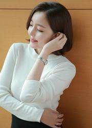 1区韩国代购正品验证attrangs-AGKN00765190-基本款简约圆领针织衫