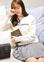 1区韩国代购正品验证attrangs-AGKN00848714-字母印染简约百搭针织衫