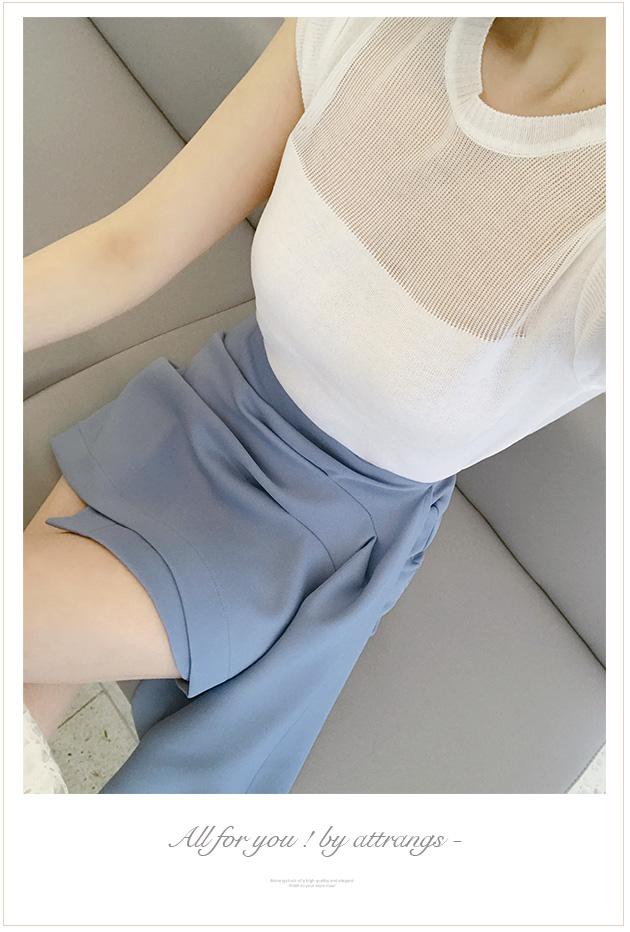 attrangs-韩国时尚潮流褶皱细节松紧带韩国代购正品短裙女装2017年05