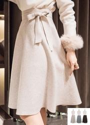 1区2017冬季新款韩国服装attrangs品牌女士纯色秀气淑女中裙(2017.11月)
