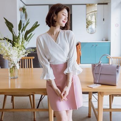 2区韩国本土服装代购(韩国圆通直发或中转)气质长款纯色连衣裙(2018-10-13上架)