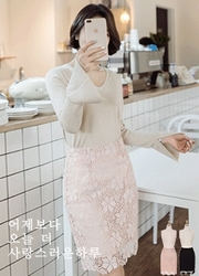 2018新款韩国服装attrangs品牌女士魅力优雅高档中裙(2018.1月)