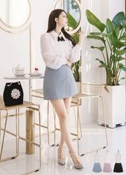 2018新款韩国服装attrangs品牌女士时尚高档纯色裙裤(2018.1月)