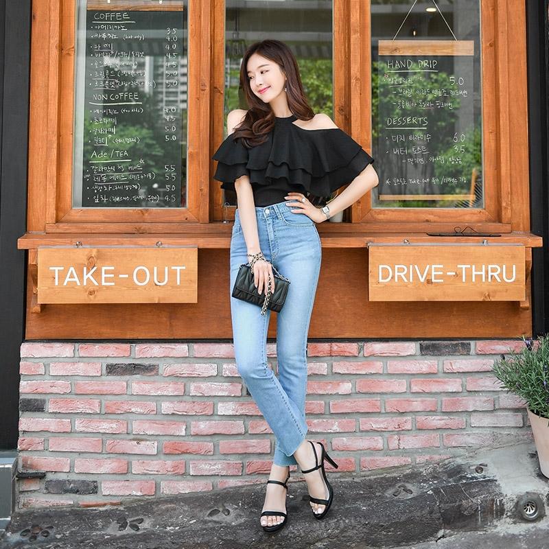 1区韩国本土服装代购(韩国圆通直发)attrangs-牛仔裤(2019-05-19上架)