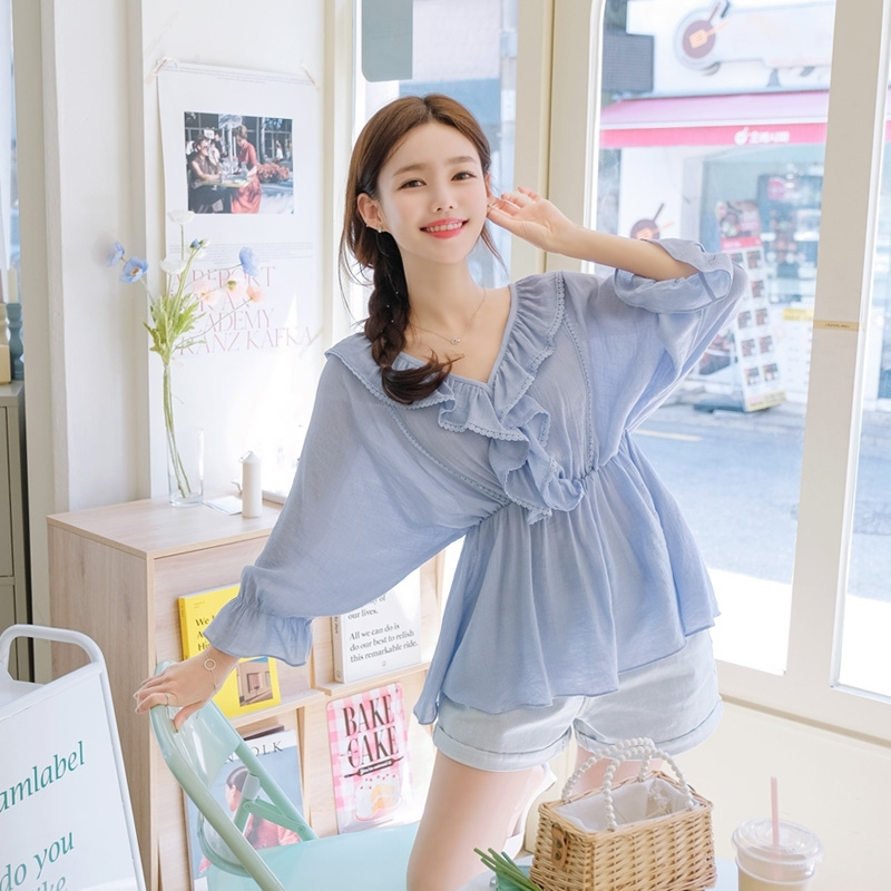 1区100%正宗韩国官网代购(韩国直发包国际运费)attrangs-衬衫(2020-05-20上架)