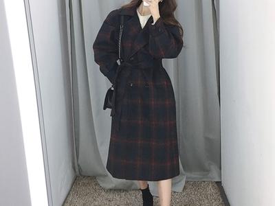 attystory-韩版时尚长款大衣