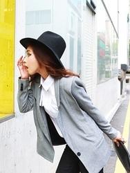 1区韩国代购正品验证aura-j-AJJK00766451-简单修身新款百搭时尚夹克