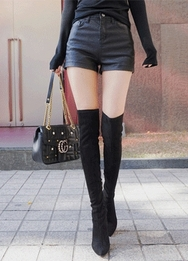 1区2017冬季新款韩国服装babinpumkin品牌冬季时尚女性流行短裤(2017.11月)